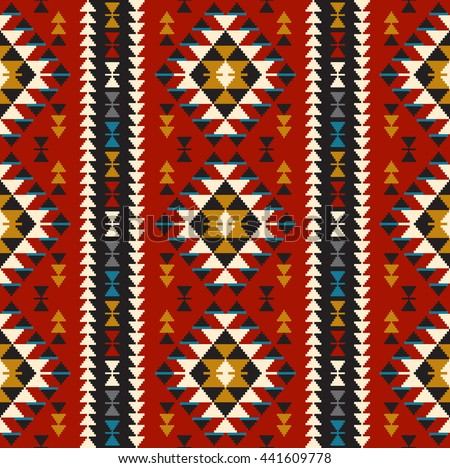 Tribal seamless colorful geometric pattern. Ethnic vector texture.Traditional ornament. - stock vector