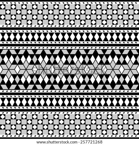 Tribal Seamless Pattern. Geometric Pattern. Ethnic Vector Background. Arabic or African Style