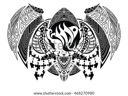Tribal Style Zodiac Sign Virgo Tattoo Stock Vector 468270980