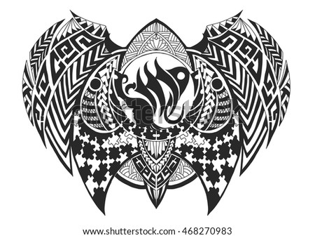 Virgo tattoo stock photos royalty free images vectors for Virgo tribal tattoo