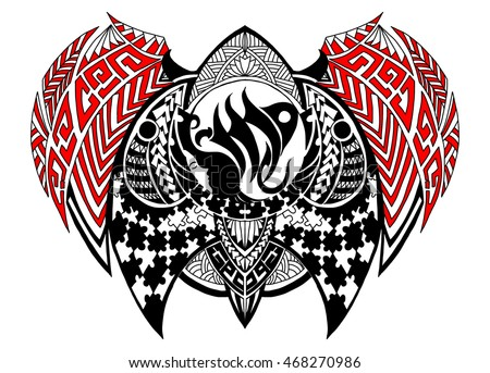 Tribal Style Zodiac Sign Virgo Tattoo Stock Vector 468270986