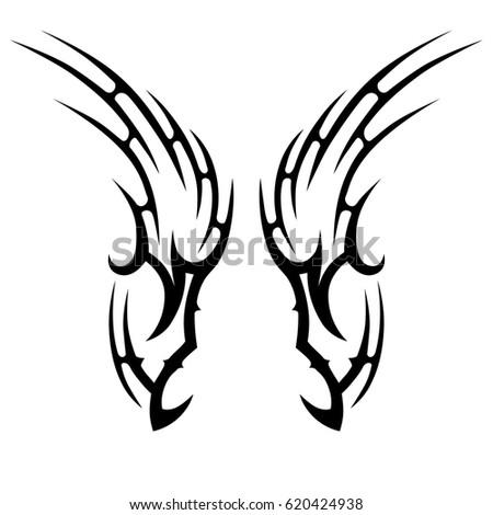 springbok head caligraphy style stock vector 366412676 shutterstock. Black Bedroom Furniture Sets. Home Design Ideas