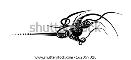 Tribal tattoo / calligraphic design elements and page decoration - lots of useful elements to embellish your layout - stock vector