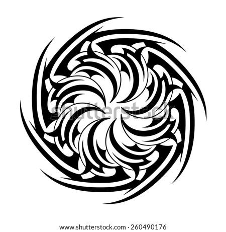 tribal tattoo circle shape stock vector 260490176 shutterstock. Black Bedroom Furniture Sets. Home Design Ideas