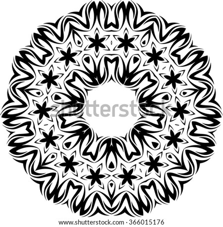 tribal tattoo circular vector art stock vector royalty free rh shutterstock com Tribal Sun Tattoos Tribal Taurus Tattoos for Men