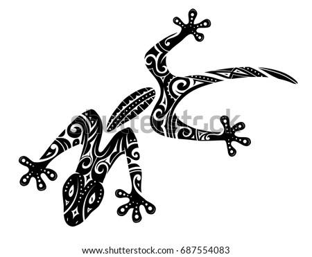 gecko tattoo stock images royalty free images vectors shutterstock. Black Bedroom Furniture Sets. Home Design Ideas