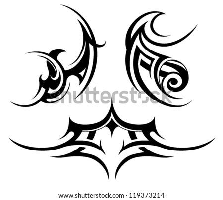 Tribal tattoo set - stock vector