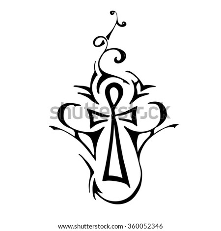 Tribal Tattoo Ankh Egyptian Symbol Eternal Stock Vector 2018