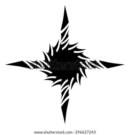 Tattoo Tribal Vector Designs. Art Tribal Tattoo. Isolated Vector Sketch Of