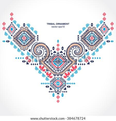 Tribal vector ethnic Mexican,  African ornament. Textile design.  - stock vector