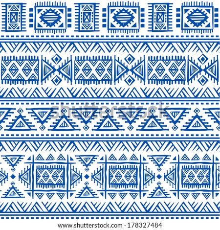 Tribal vintage ethnic seamless for your business - stock vector