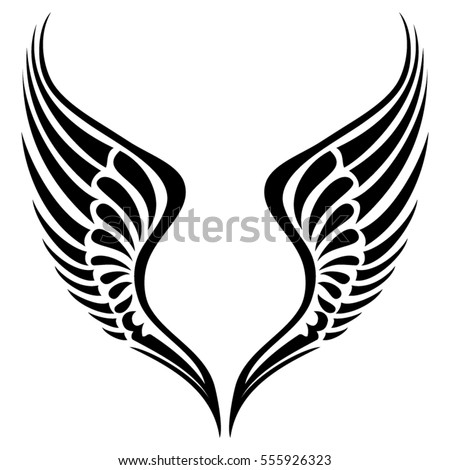 tribal wing vector silhouette stock photo photo vector rh shutterstock com wind vector wind vector plot