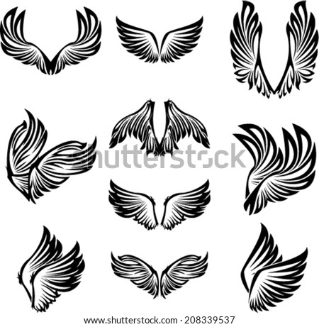Tribal Wings Set