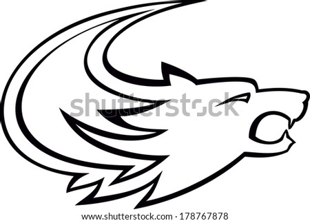 Tribal wolf - stock vector