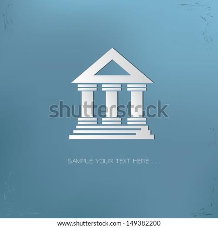 Tribunal symbol,vector - stock vector