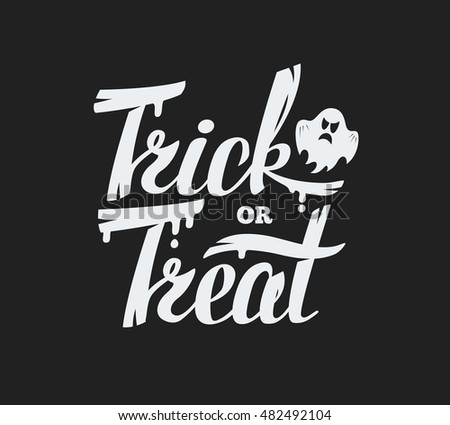 Trick or treat lettering design background