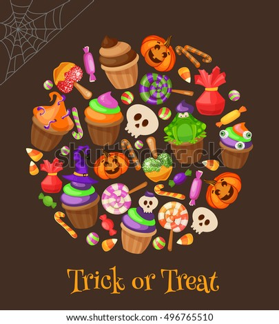 traditional sweets and candies for holiday halloween muffins cupcakes