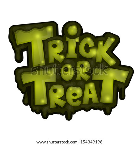 Trick or treat. Vector illustration