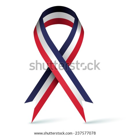 Tricolor ribbon - stock vector