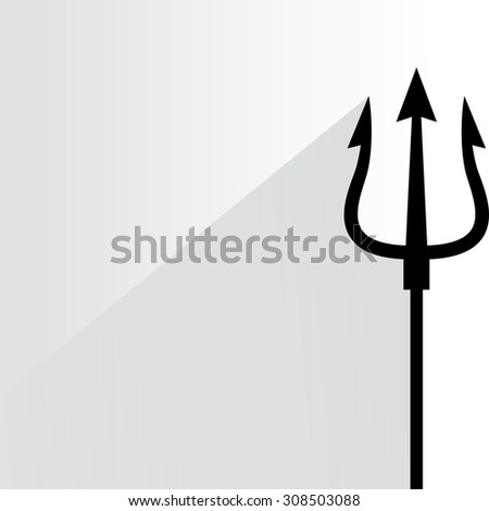 trident  - stock vector
