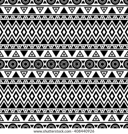 Triibal Aztec Seamless Pattern Abstract Background Stock Vector ...