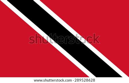 Trinidad and Tobago flag - stock vector