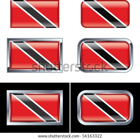 Trinidad and Tobago Flag Buttons
