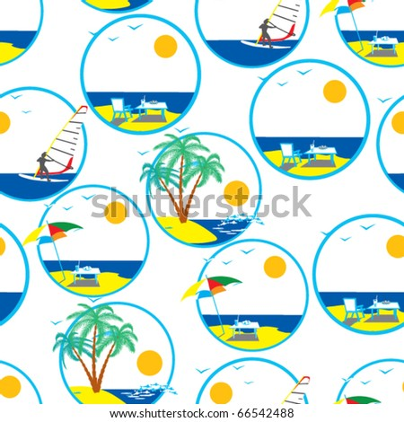 Trip. Vector illustration. Seamless. - stock vector