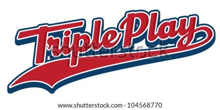 Triple Play - stock vector