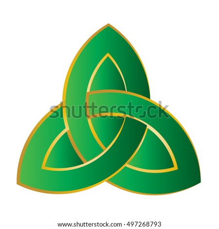 Triquetra Trinity Knot Celtic Knot Style Stock Vector 497268793