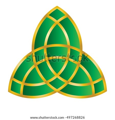 Triquetra Trinity Knot Celtic Knot Style Stock Vector 2018