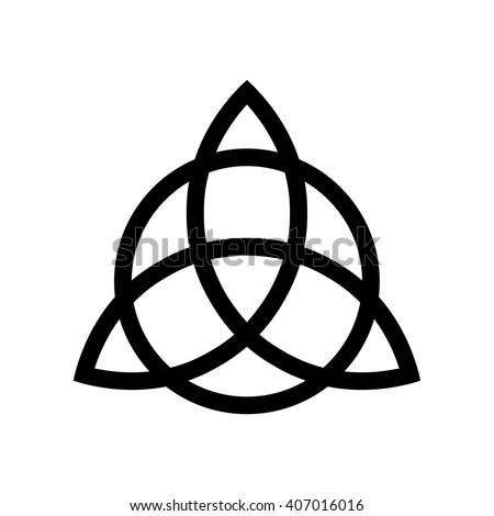Triquetra Symbol Vector Illustration Stock Vector Royalty Free