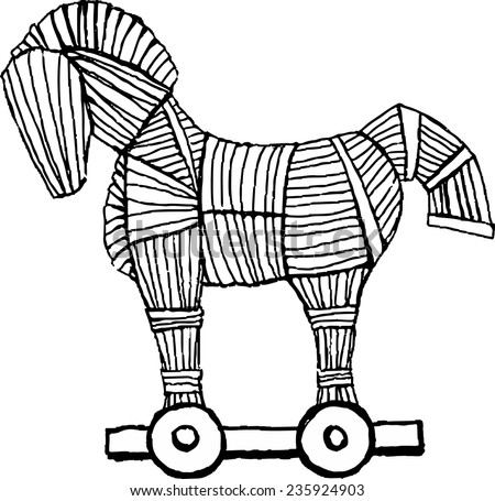 free trojan horse coloring pages - photo#18