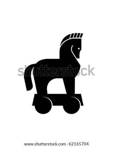 Trojan Horse vector - stock vector
