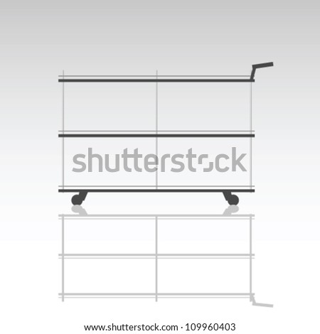 trolley for serving food in a restaurant art vector illustration