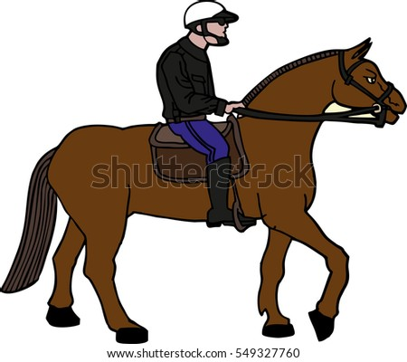 Western Horse Saddle Bridle Sorrel American Stock Vector