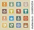 Trophy and awards icons set.Illustration eps10  - stock