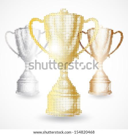 Trophy cup - stock vector
