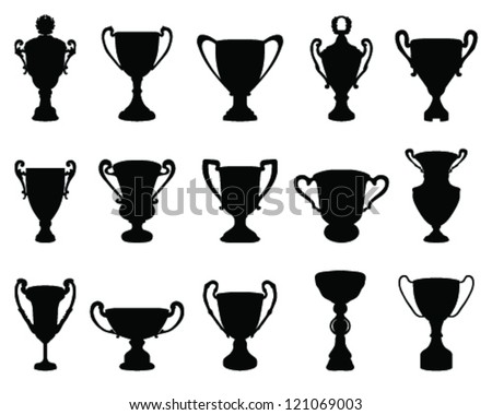 Trophy Cup Silhouette 1 Vector