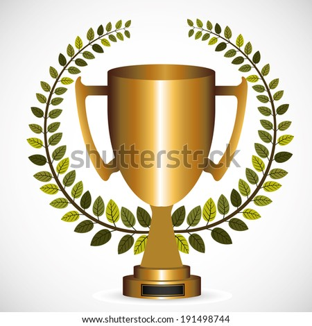 Trophy design over gray background, vector illustration