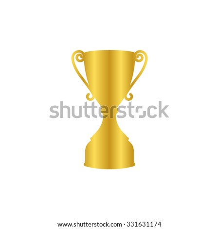 Trophy - gold vector icon - stock vector
