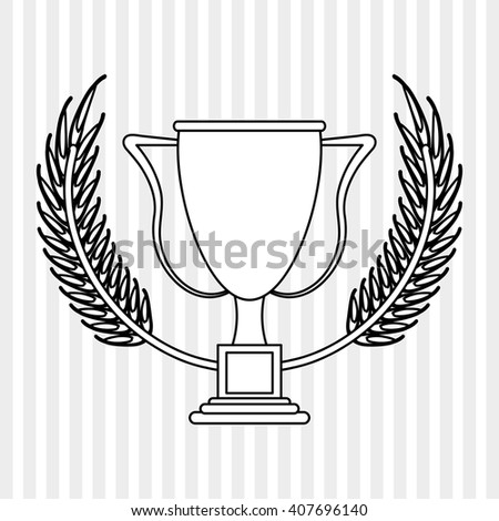 trophy icon design , editable vector