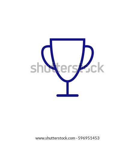 Trophy Vector Icon Blue