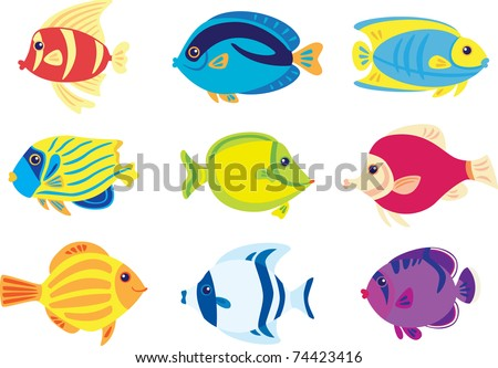 Tropic fish - stock vector