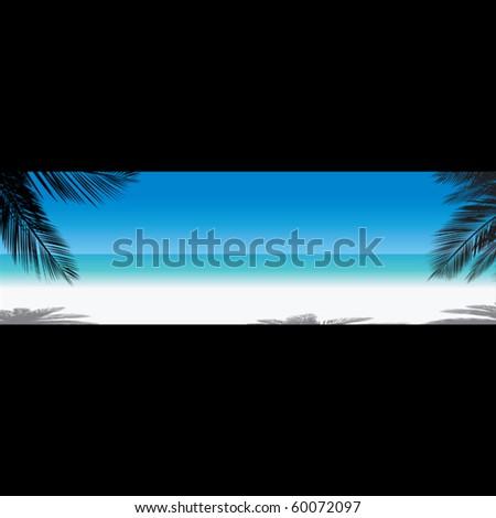 Tropical beach. - stock vector