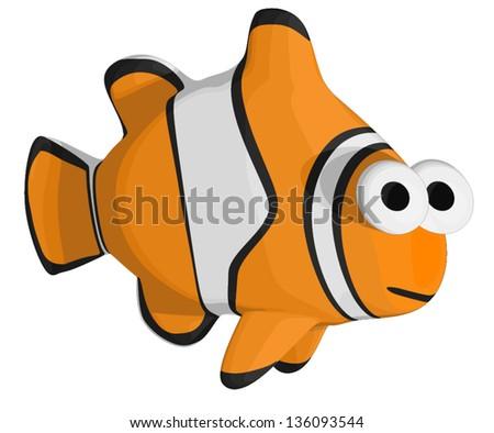 Tropical Clown Fish - stock vector