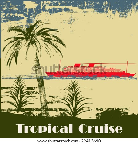 Tropical Cruise Background - stock vector