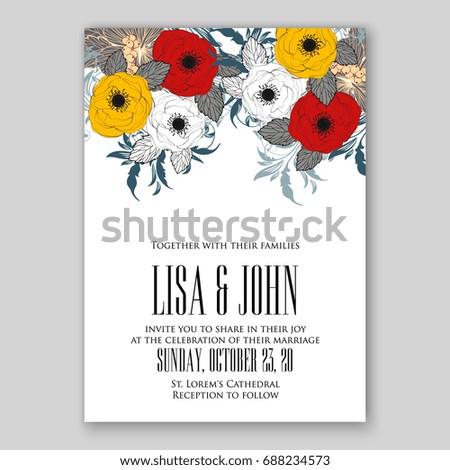 Tropical floral wedding invitation vector card stock vector hd tropical floral wedding invitation vector card stopboris Choice Image