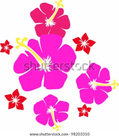 TROPICAL FLOWERS - stock vector
