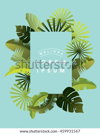 tropical leaf template vector/illustration